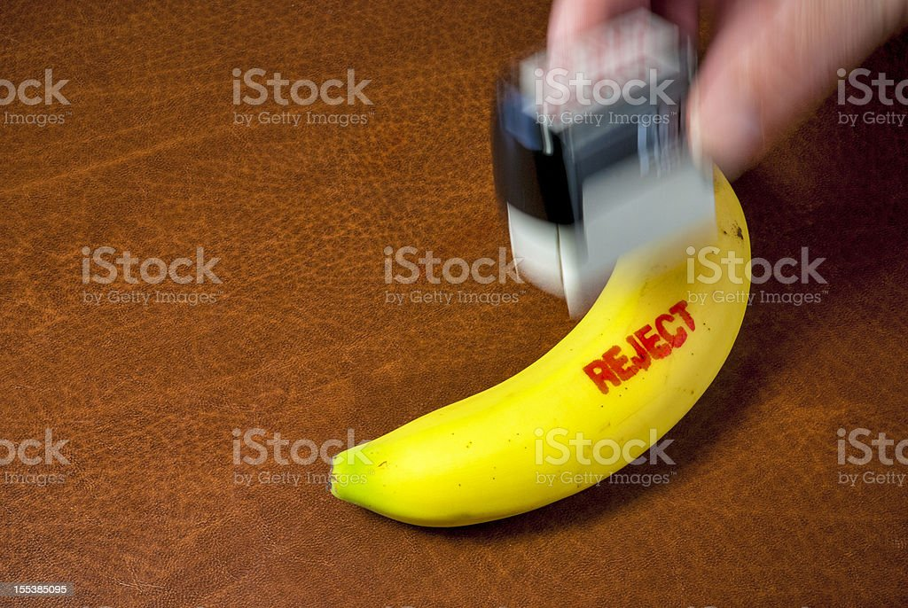 Banana get stamp rejected royalty-free stock photo