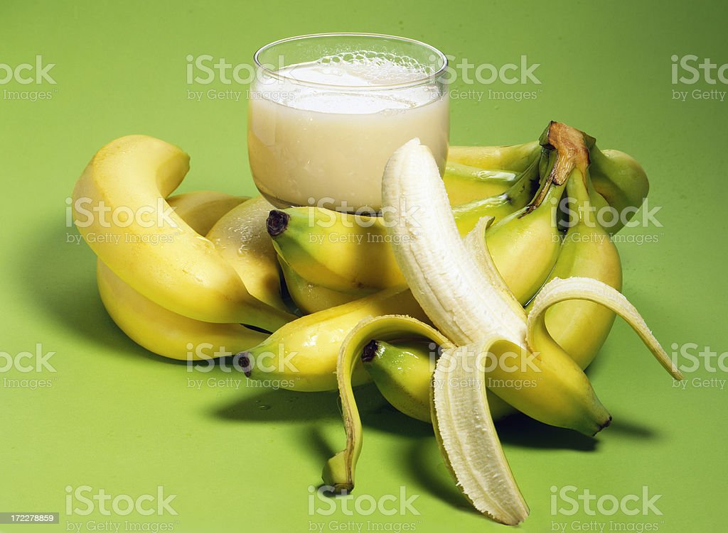 Banana + Glass with Nectar royalty-free stock photo