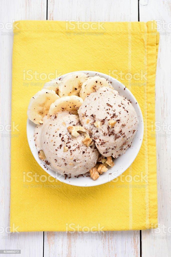 Banana ice cream, top view – Foto