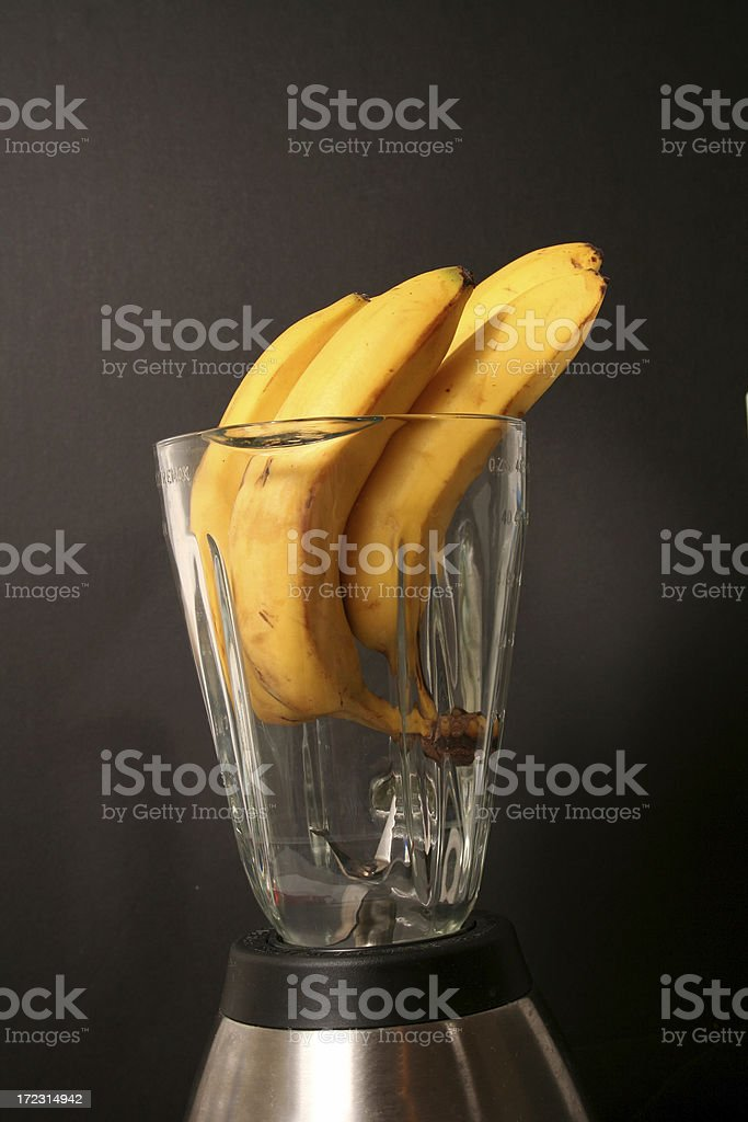 Banana in the Blender royalty-free stock photo