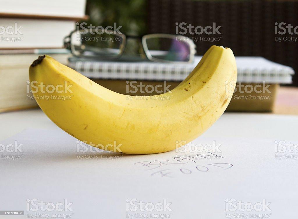 Banana is a good brain food royalty-free stock photo