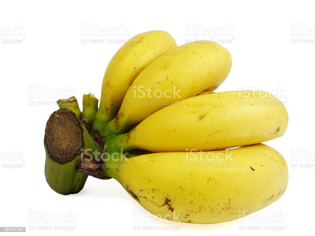 Banana isolated on white background, high resolution stock photo