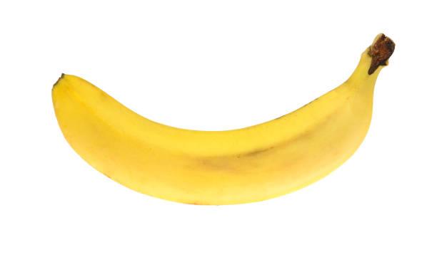 banana. isolated on white background - maturo foto e immagini stock