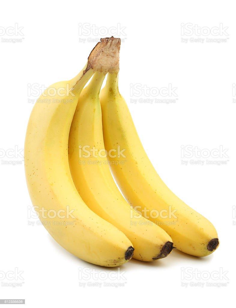 Banana isolado a branco - fotografia de stock