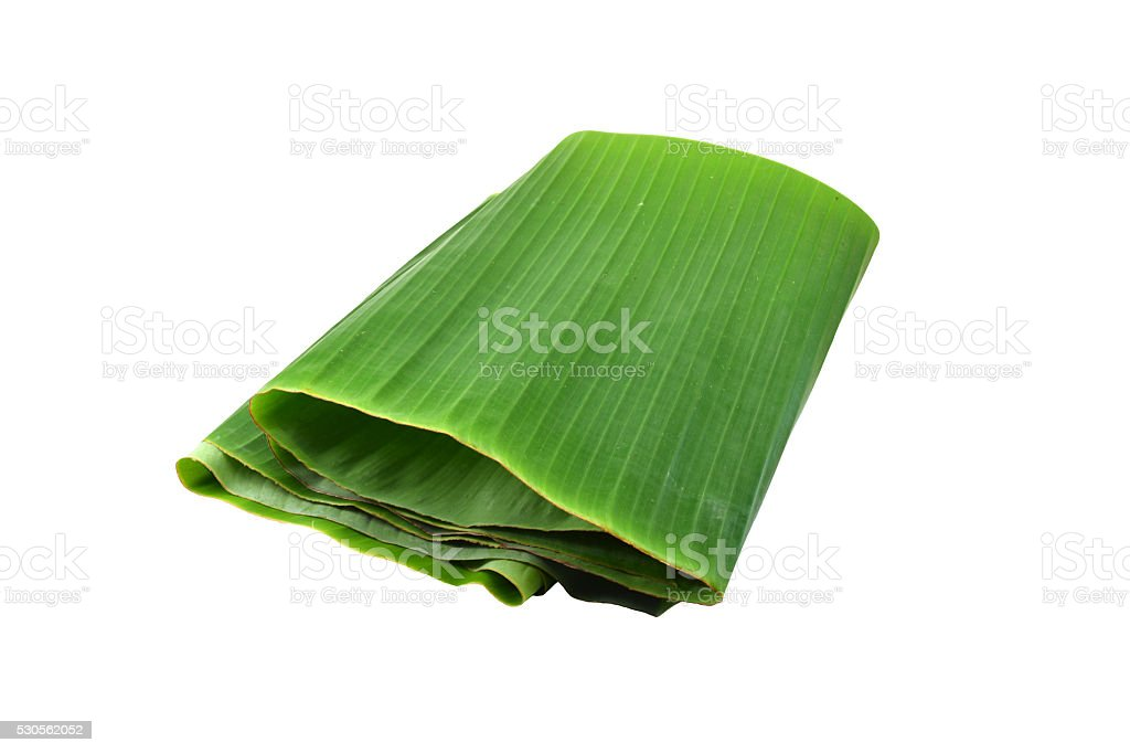 Banana leaves isolated on white​​​ foto