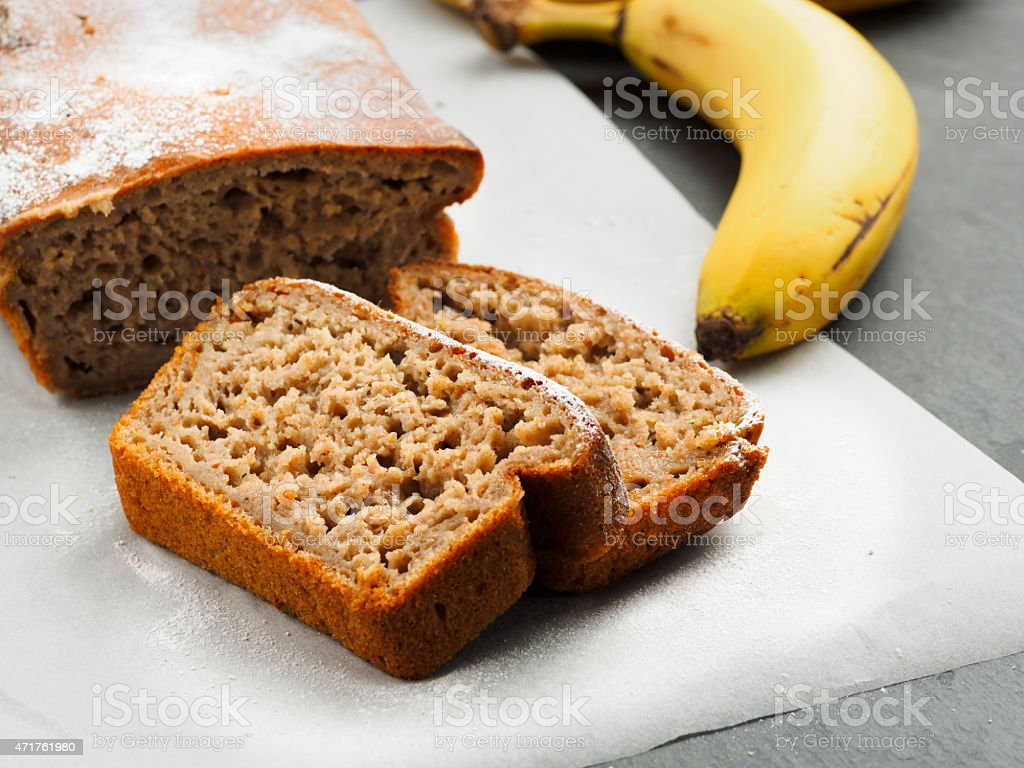 banana loaf stock photo