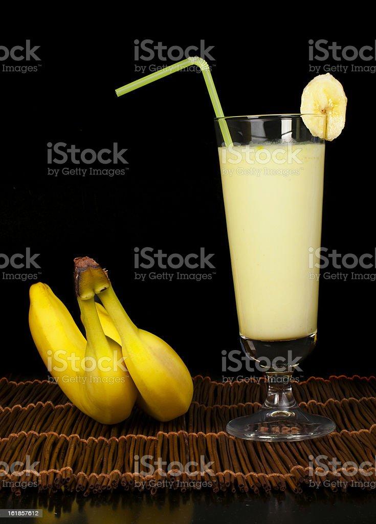 Banana milk shake royalty-free stock photo