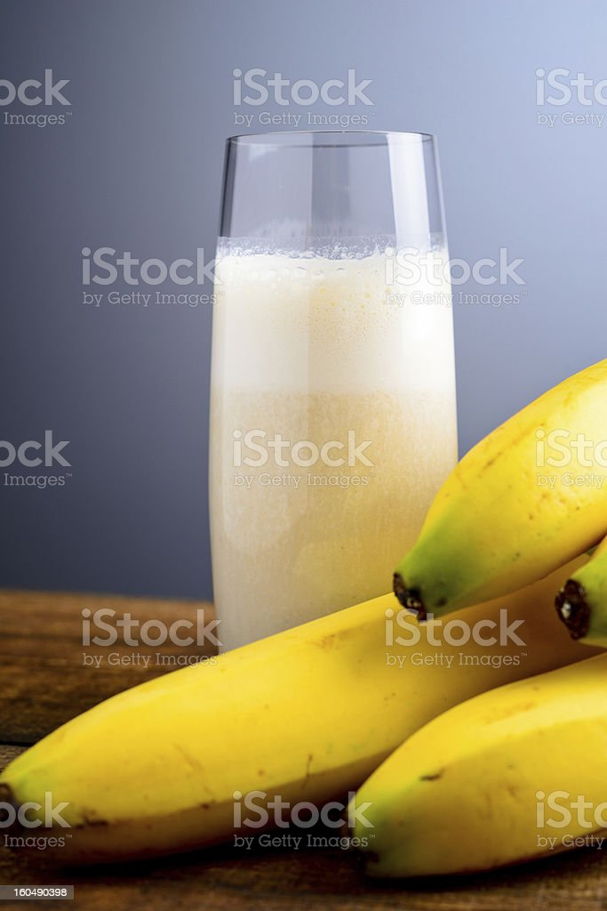 banana milkshake royalty-free stock photo