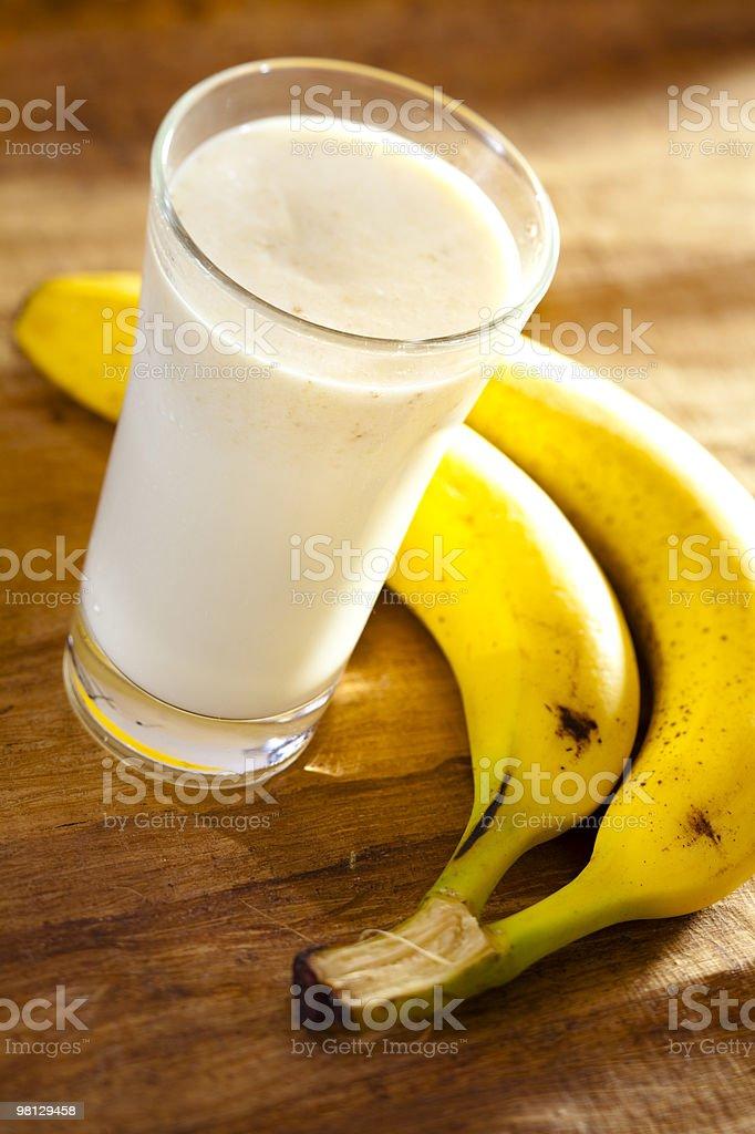 Frullato alla banana foto stock royalty-free