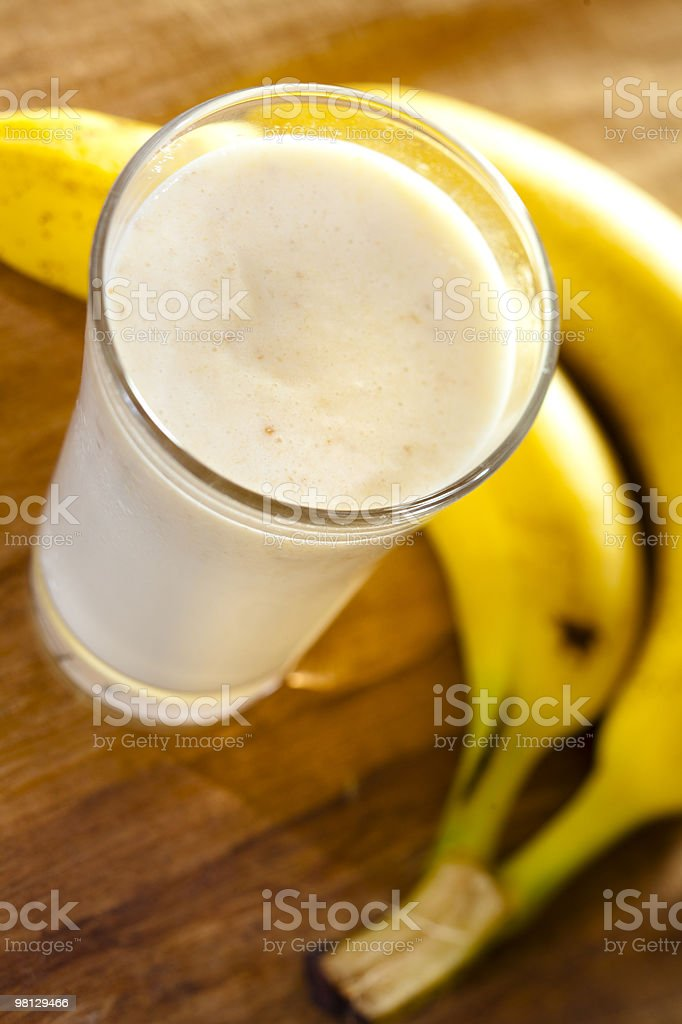 banana milkshake royalty-free stock photo