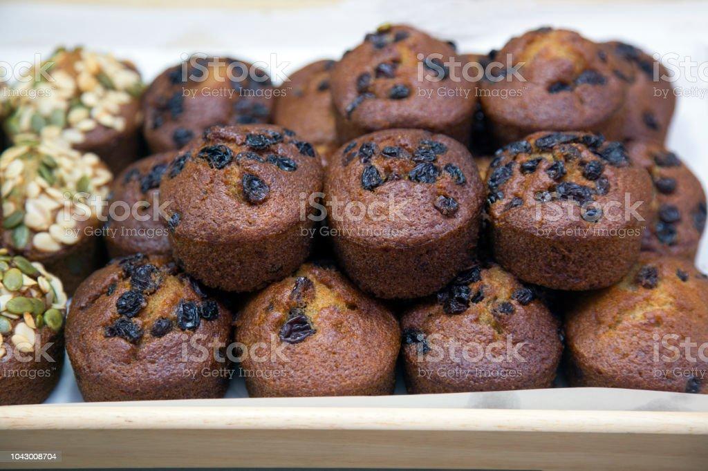 Banana muffin cup cake stock photo
