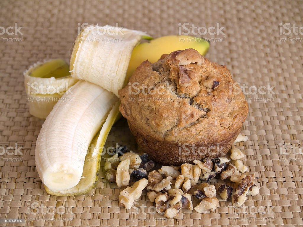Banana Muffin stock photo