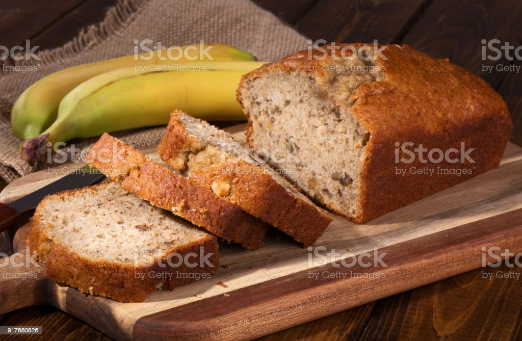 Banana Nut Bread stock photo