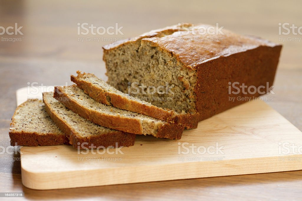 Banana nut bread - plain stock photo