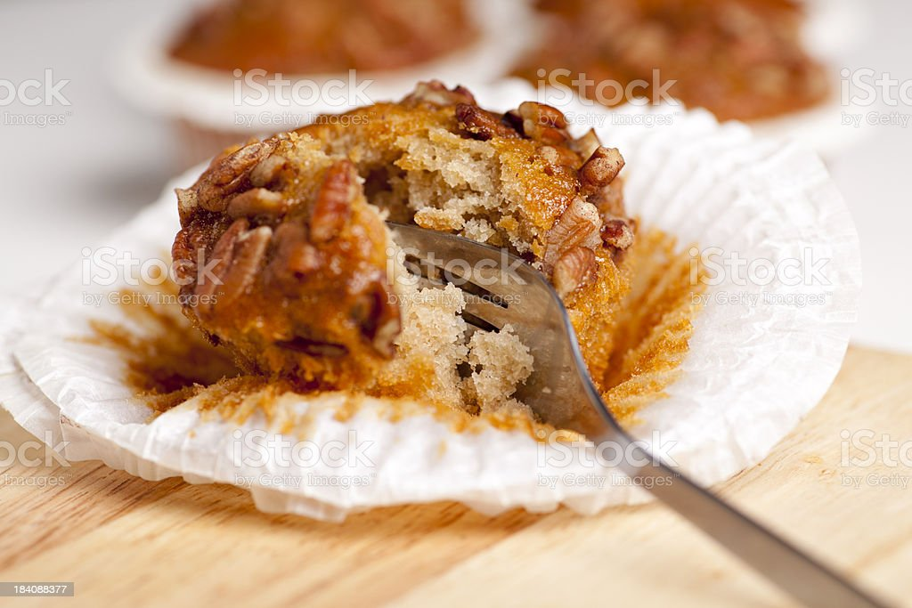 Banana nut muffin stock photo