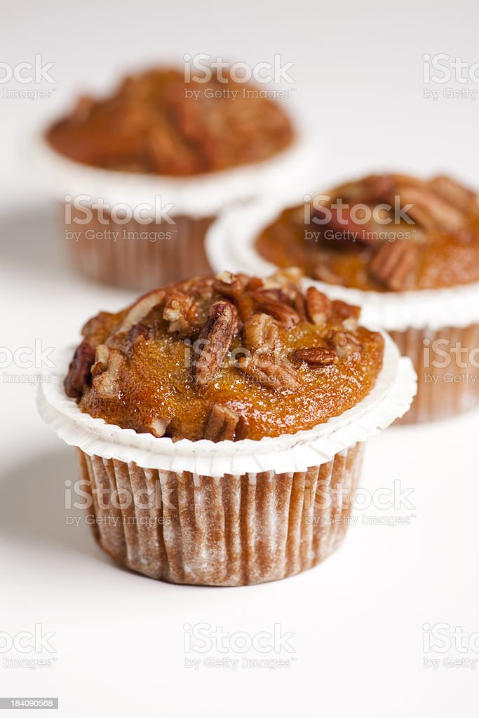 banana nut muffins stock photo