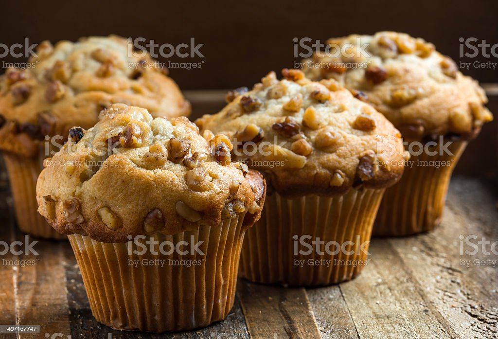 Banana Nuts Muffins stock photo