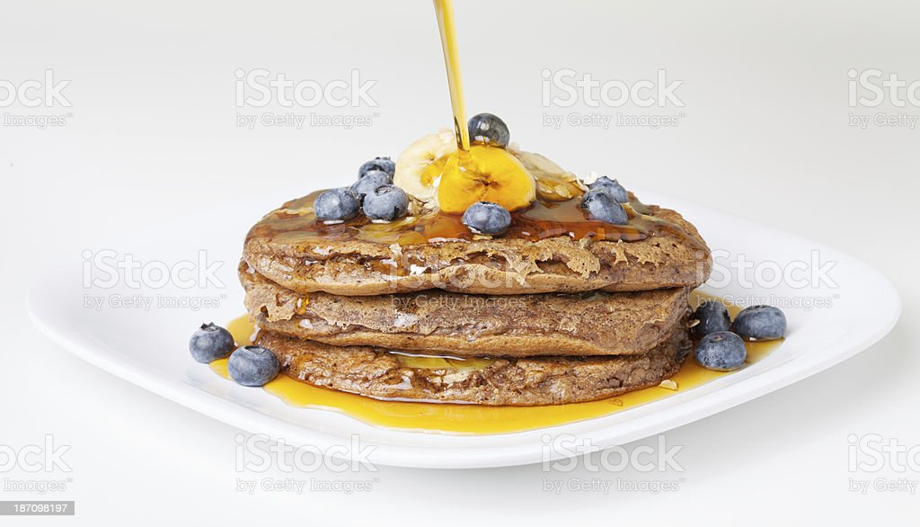 Banana Oat Pancakes royalty-free stock photo