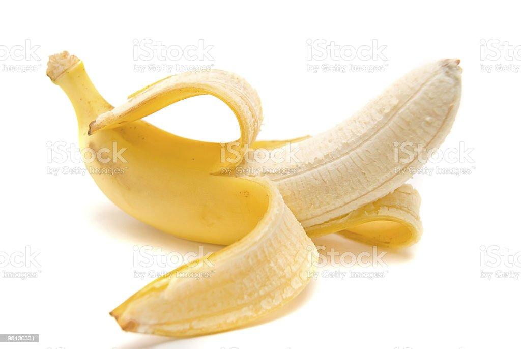 banana su sfondo bianco foto stock royalty-free