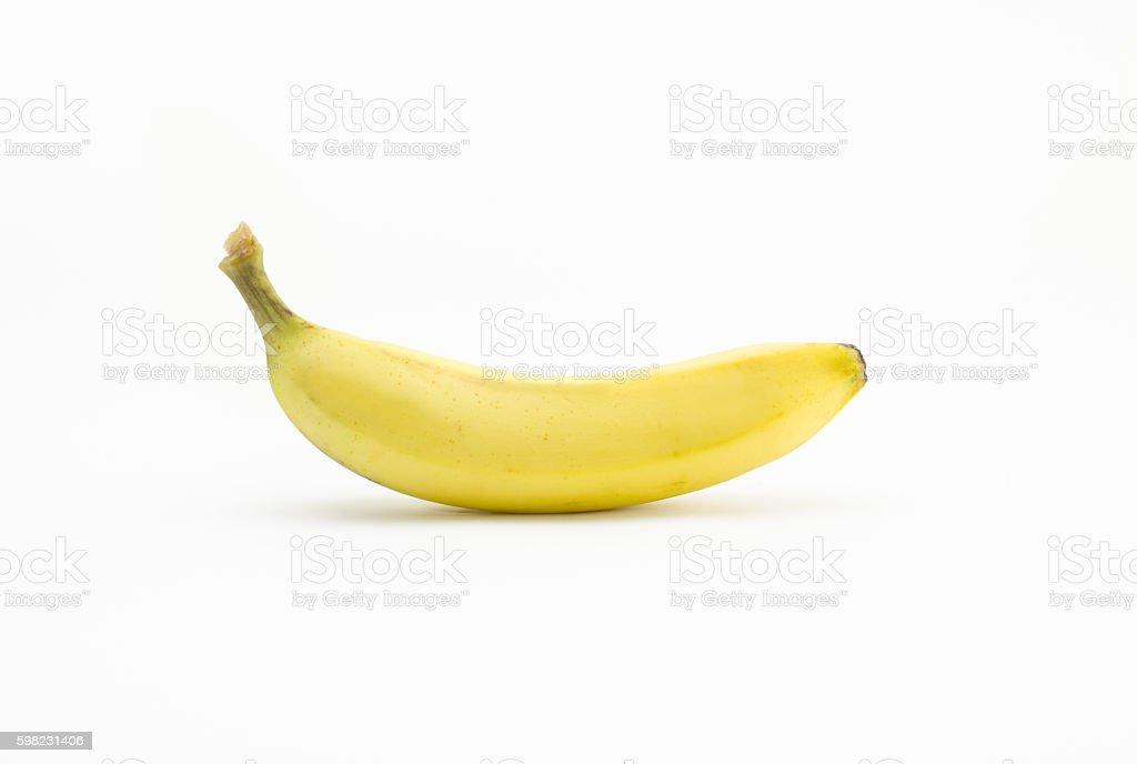 Banana on isolated white background foto royalty-free