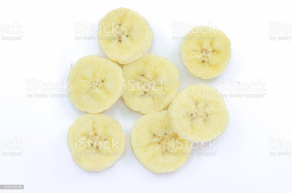 Banane sur fond blanc. - Photo