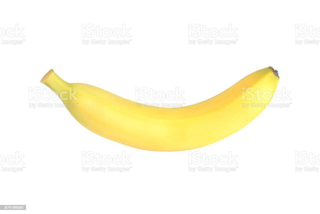 Banane sur fond blanc  - Photo