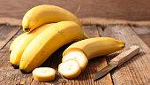 banana on wood background