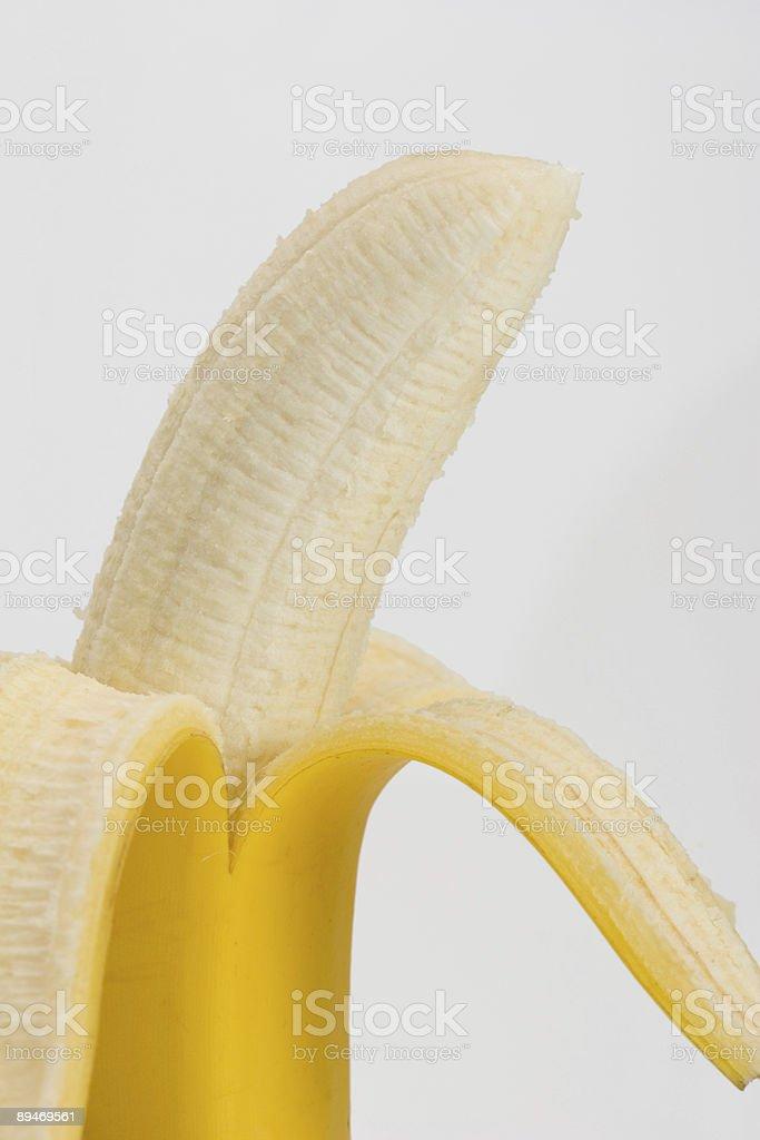 Banana Partially Peeled royalty-free stock photo
