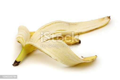 istock Banana Peel Isolated on a white background 1056335784