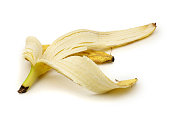 Banana Peel Isolated on a white background