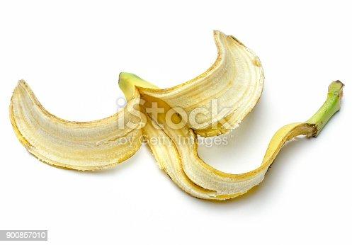 istock Banana Peel Isolated on a white background 900857010