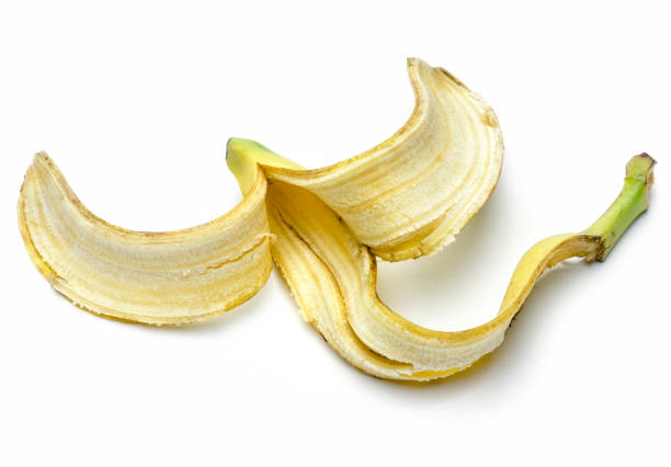 Banana Peel Isolated on a white background Banana Peel Isolated on a white background banana peel stock pictures, royalty-free photos & images