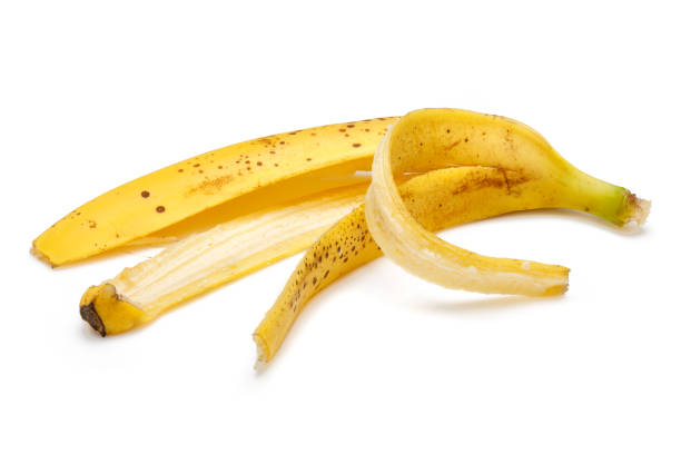 Banana peel isolated on white background Banana peel isolated on white background banana peel stock pictures, royalty-free photos & images