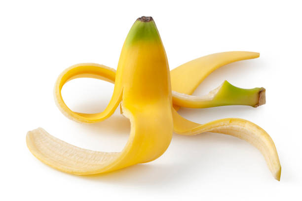 Banana peel on white background Banana peel on white background. banana peel stock pictures, royalty-free photos & images