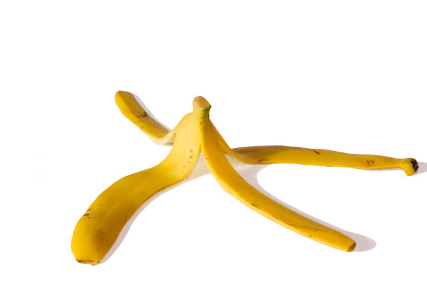 바나나 껍질 스톡 사진