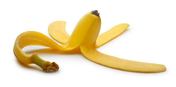 Banana Peel Banana peel on white with soft shadow. banana peel stock pictures, royalty-free photos & images