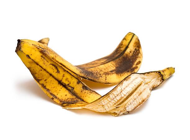 Banana peel Banana peel on white background banana peel stock pictures, royalty-free photos & images