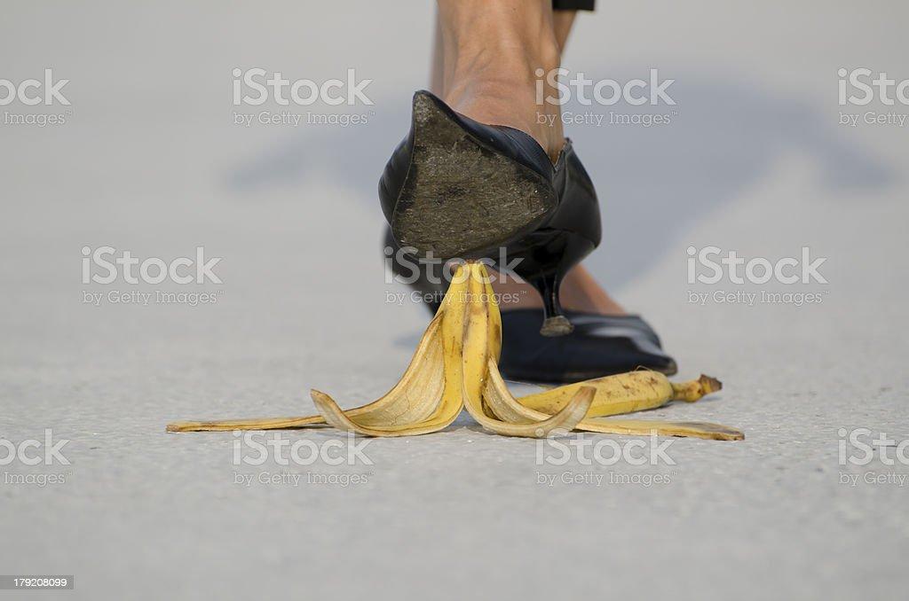 Banana peel stock photo