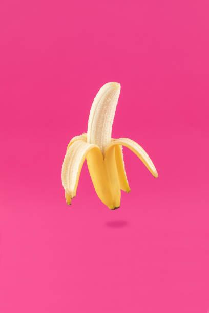 Banana Peeled Fruit stock photo
