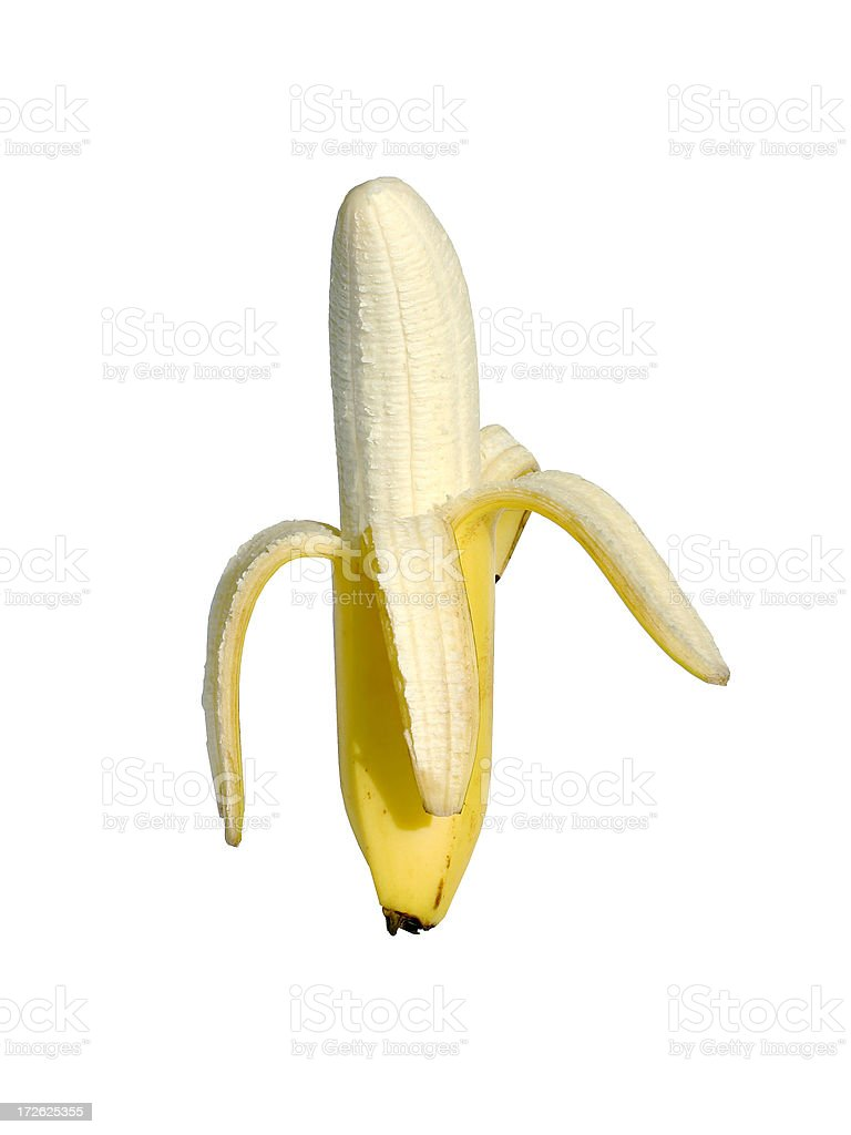 Banana Peeled royalty-free stock photo
