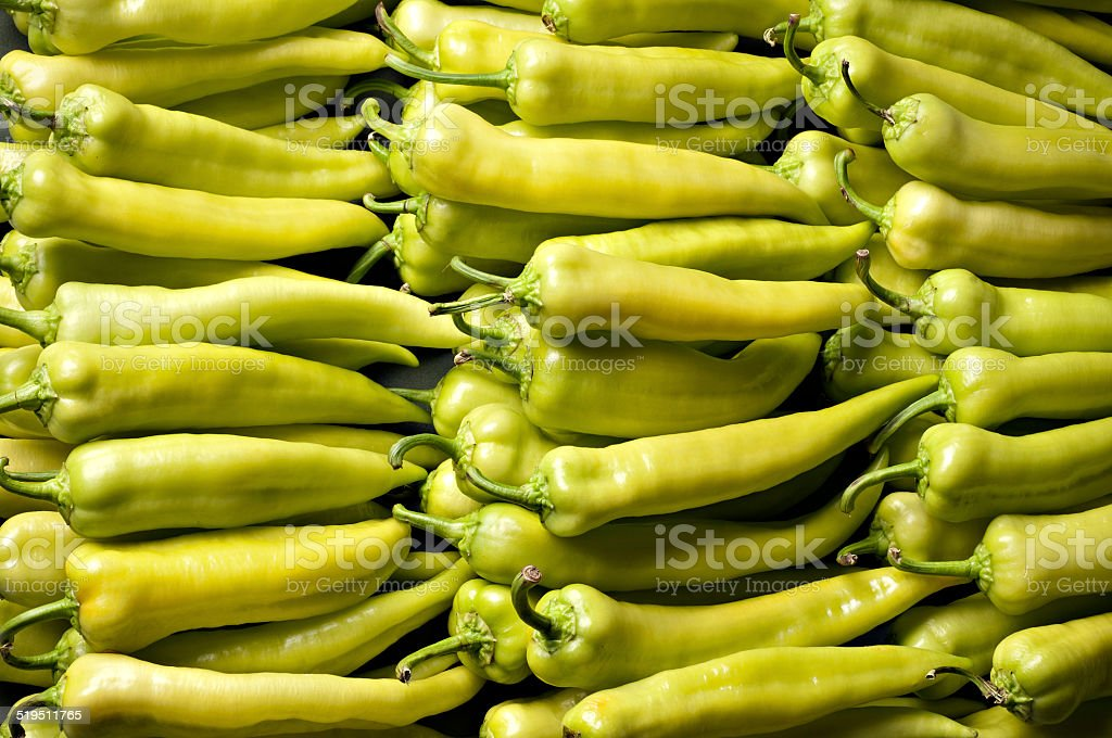 banana peppers background stock photo