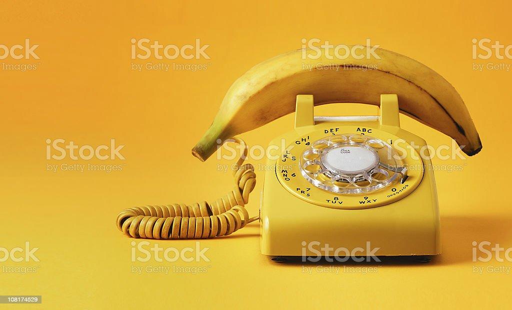 Teléfono tipo banana - foto de stock