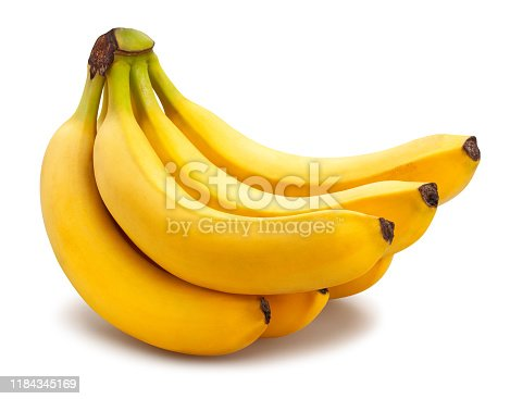 banana path isolated on white