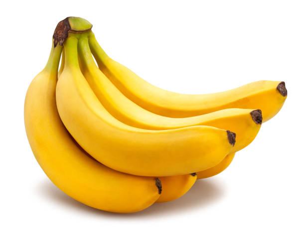 banane - weißer hintergrund stock-fotos und bilder