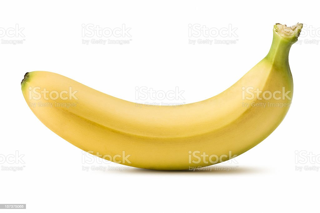 Banana (Clipping Path) stock photo