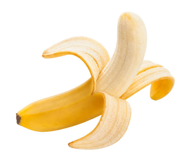 banana - peeled stock photos and pictures
