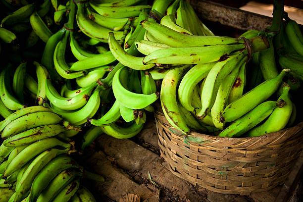 바나나 플렌틴 바나나 a 팔레트 - 플렌틴 바나나 뉴스 사진 이미지