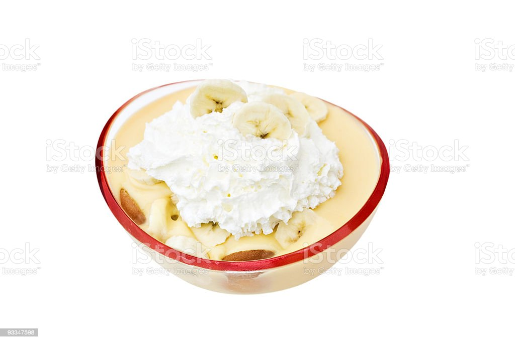 Banana pudding stock photo