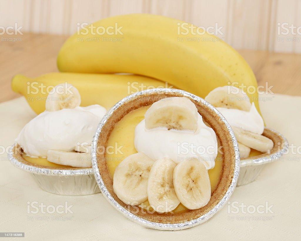 Banana Pudding Tarts stock photo