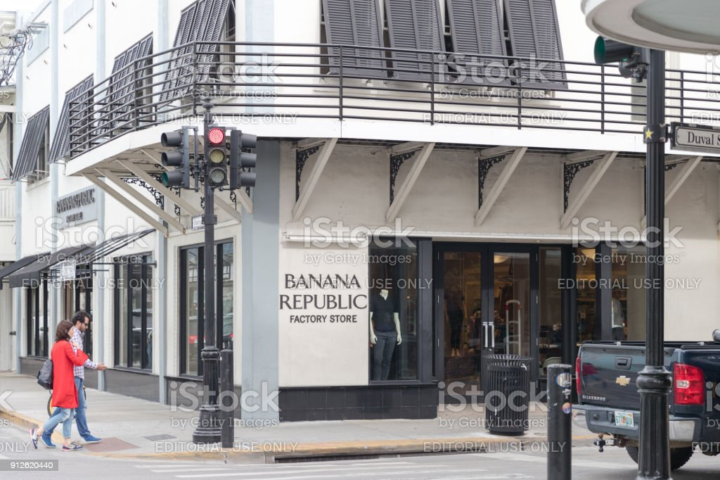 Banana Republic is an American clothing and accessories retailer. stock photo